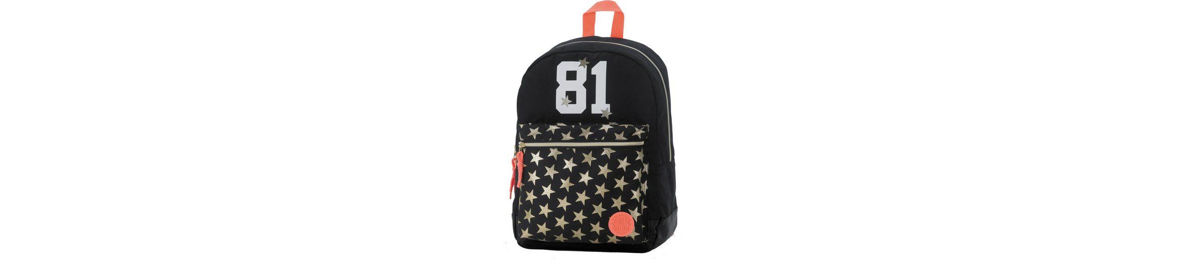 Schulrucksack mit gummiertem Bodenschutz, »Replay, Classic Girls Backpack schwarz«