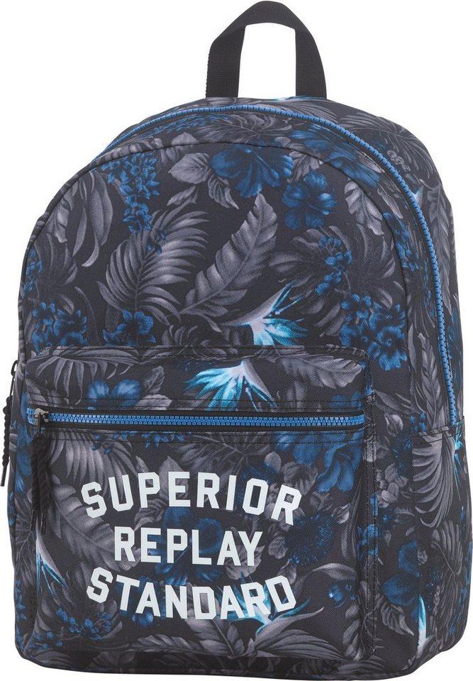Replay, Schulrucksack »Classic Boys Backpack grau/blau« in grau/blau