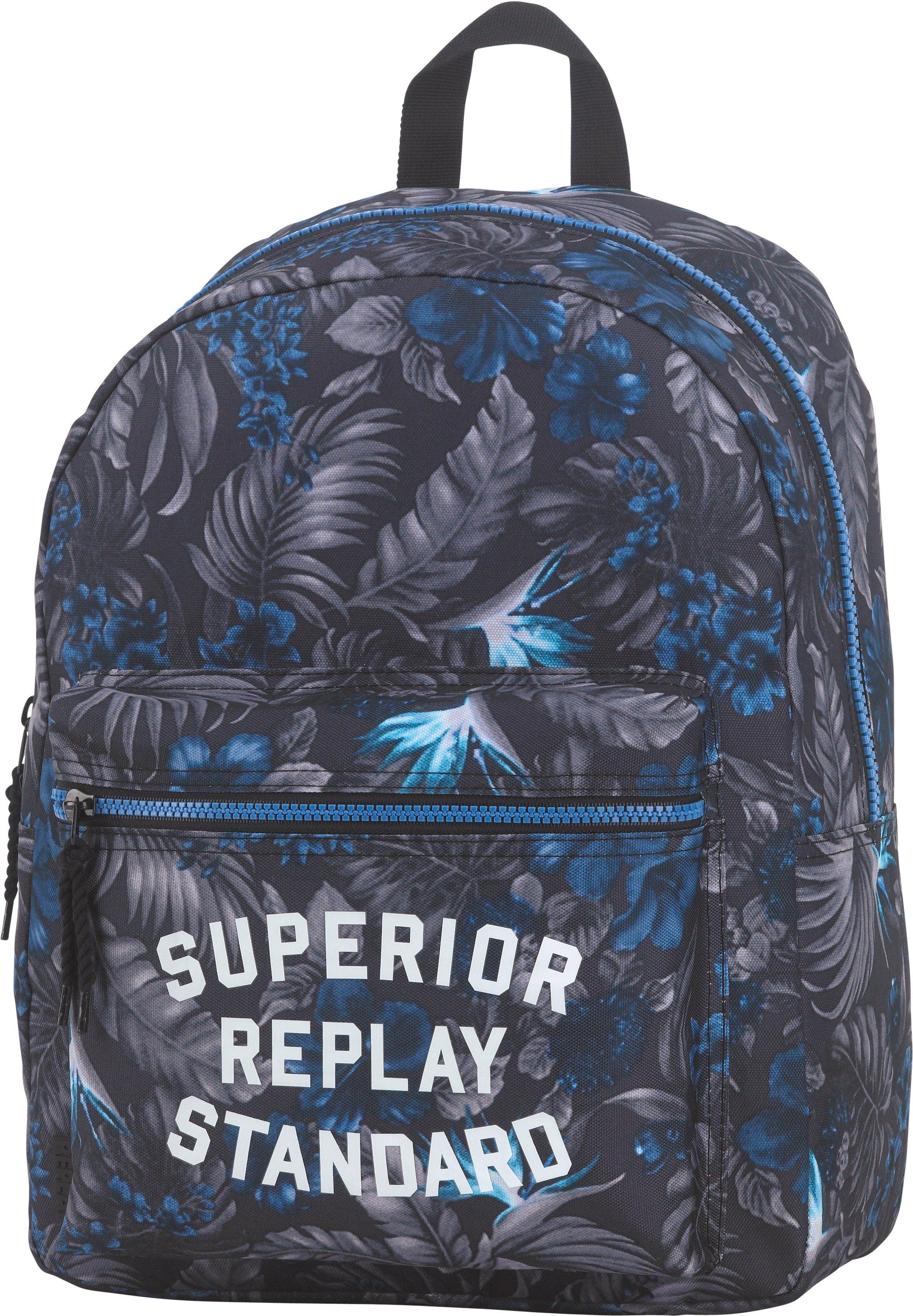 Replay, Schulrucksack »Classic Boys Backpack grau/blau«