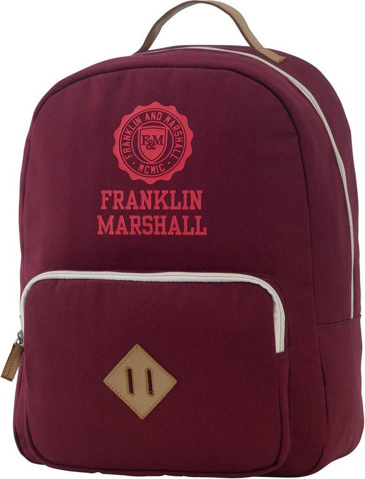 Franklin & Marshall, Rucksack mit gepolstertem Laptopfach, »Girls Backpack, bordeaux rot« in bordeaux rot