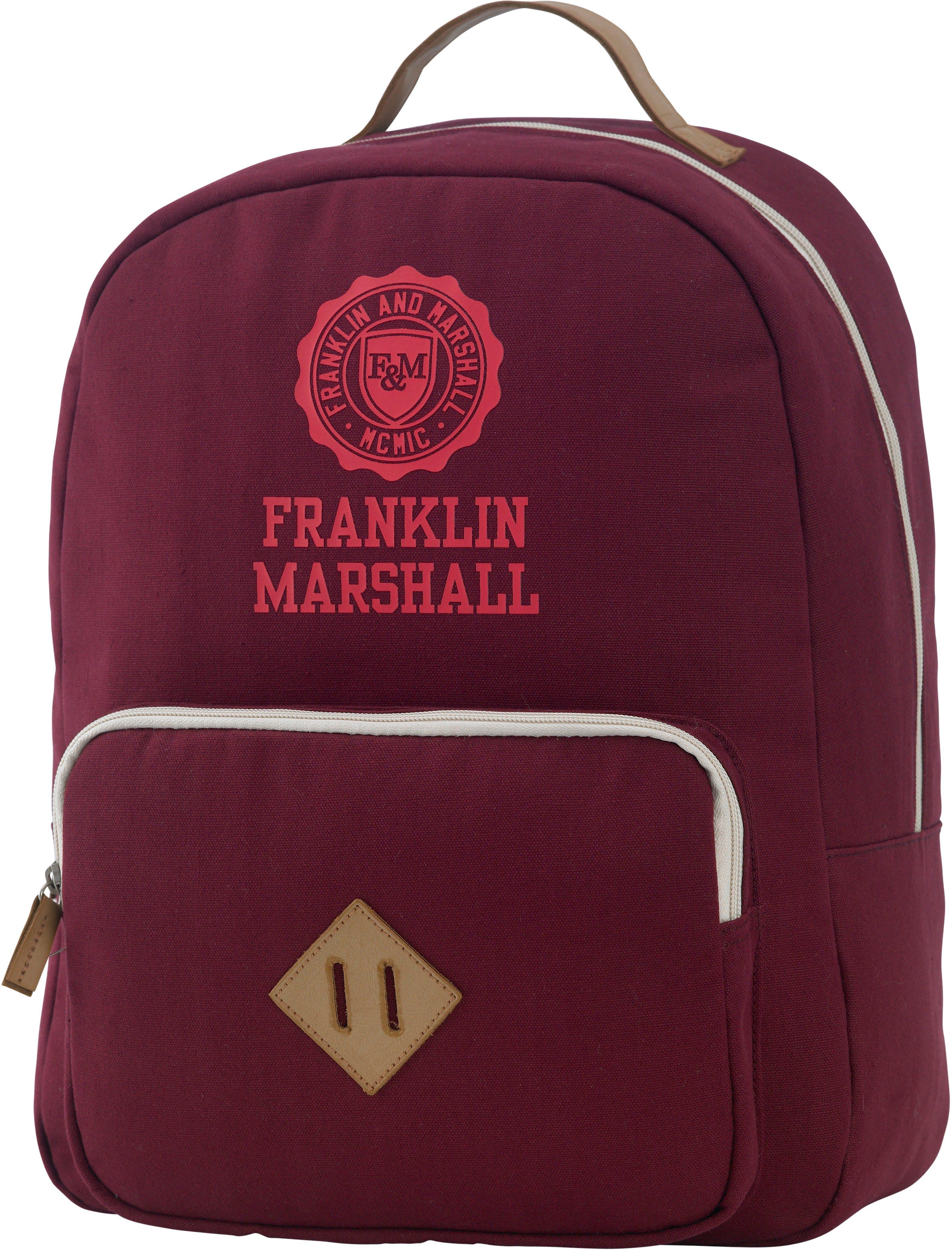 Rucksack mit gepolstertem Laptopfach, »Franklin & Marshall, Girls Backpack, bordeaux rot«