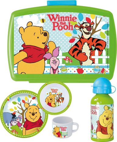 p os kindergeschirrset mit trinkflasche und brotdose disney winnie the pooh fr hst ckspaket. Black Bedroom Furniture Sets. Home Design Ideas