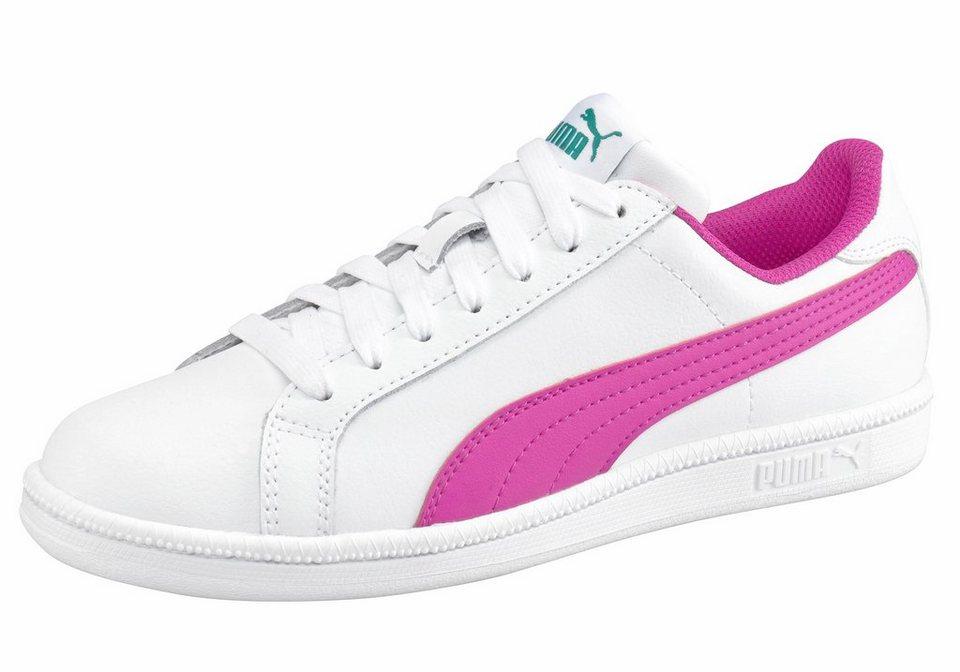 PUMA »Smash Fun L Junior« Sneaker in weiß-pink