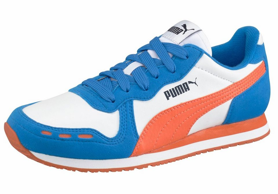 PUMA »Cabana Racer SL Junior« Laufschuh in weiß-blau-orange