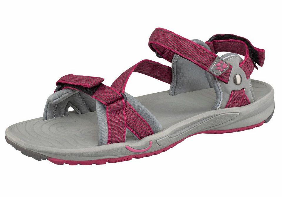 Jack Wolfskin »Lakewood Ride Sandal W« Outdoorsandale in pink-grau