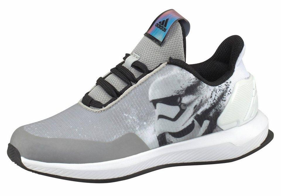 adidas Performance »Star Wars Kids« Laufschuh in schwarz-weiß