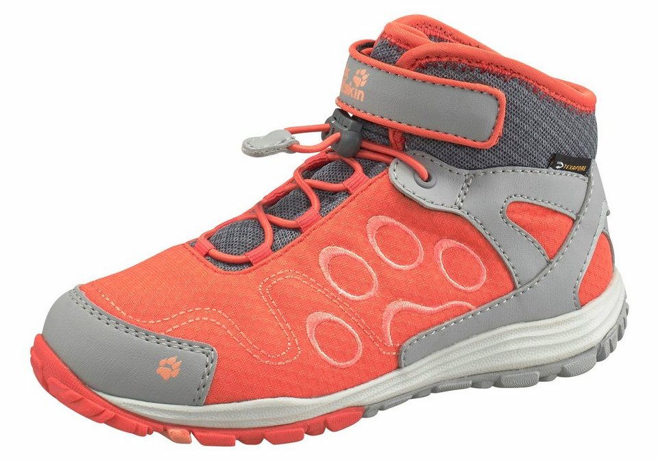 Jack Wolfskin »Portland Texapore Mid K« Outdoorschuh in orange-grau