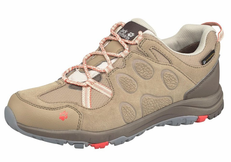 Jack Wolfskin »Rocksand Texapore Low W« Outdoorschuh in beige-orange