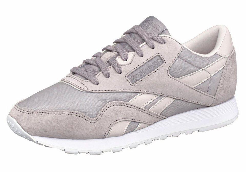 Reebok »Classic Leather Nylon X Face« Sneaker in hellgrau