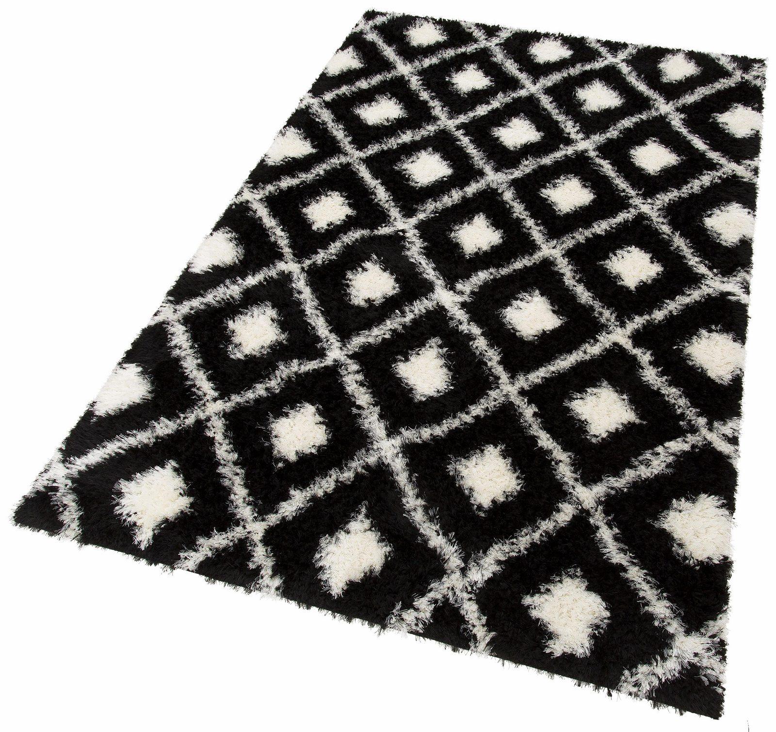 Hochflor-Teppich, my home Selection, »Maren«, Höhe 50 mm, gewebt