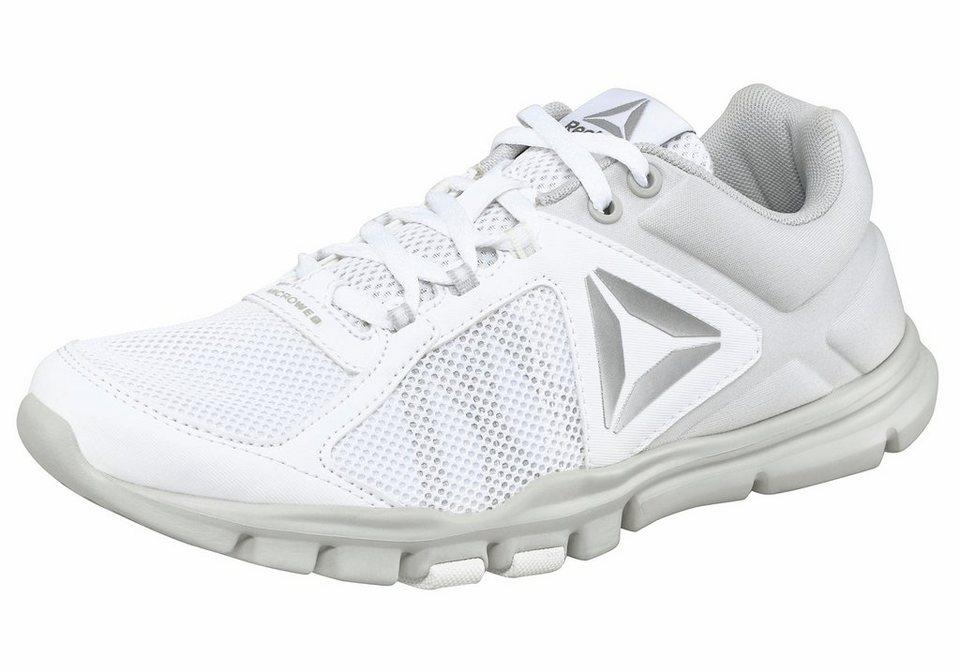 Reebok »Yourflex Trainette« Fitnessschuh in weiß-grau
