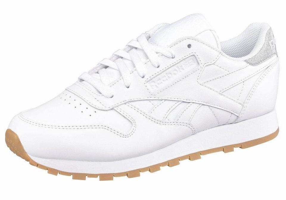 Reebok »Classic Leather Met Diamond« Sneaker in weiß-silberfarben