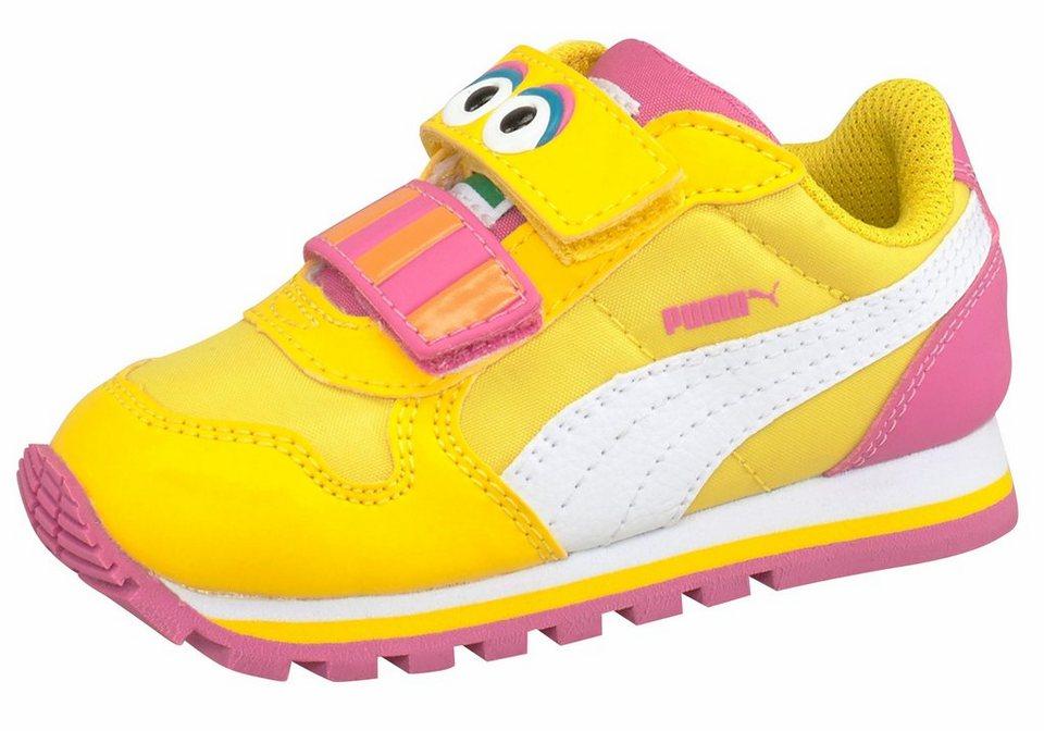 PUMA »St Runner Big Bird Hoc V Infant« Lauflernschuh in gelb-pink