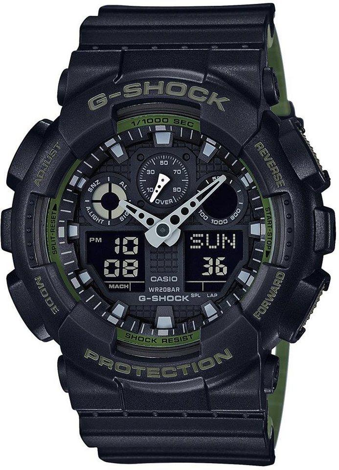 Casio G-Shock Chronograph »GA-100L-1AER« in schwarz-khaki