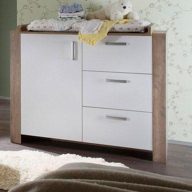 wickelkommode nick in wildeiche tr ffel wei matt. Black Bedroom Furniture Sets. Home Design Ideas