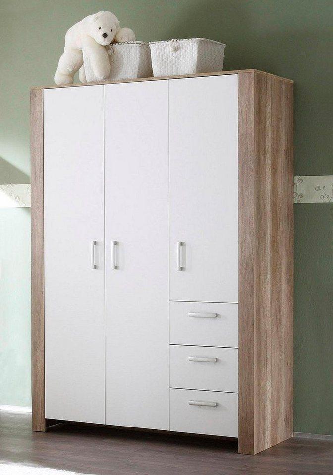 schrank nick 3 trg in wildeiche tr ffel wei matt. Black Bedroom Furniture Sets. Home Design Ideas