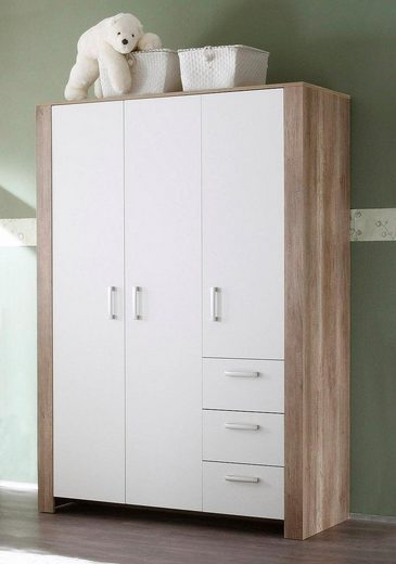Schrank nick 3 trg in wildeiche tr ffel wei matt for Schrank wildeiche