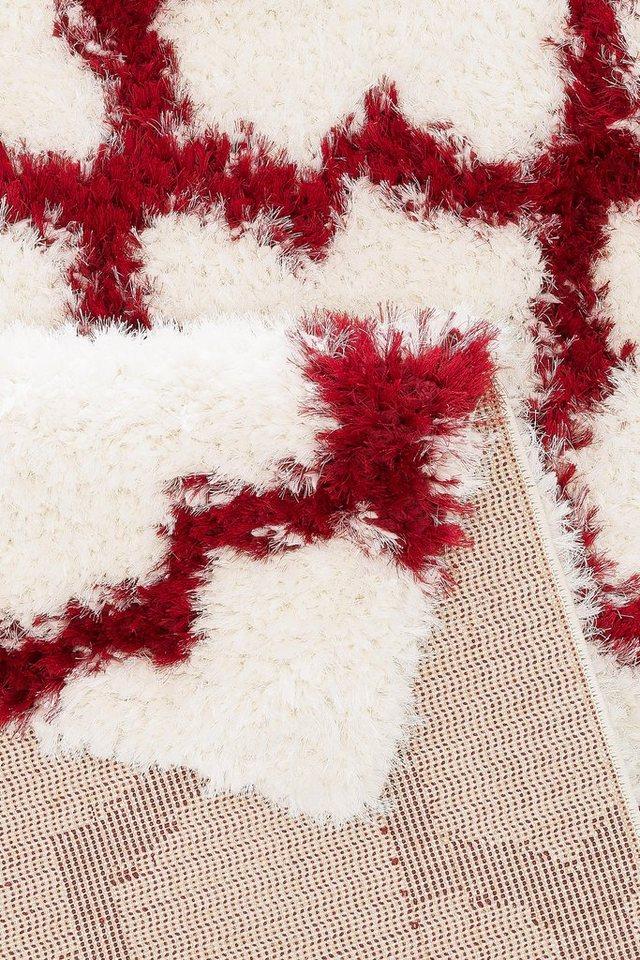 Hochflor-Teppich, my home Selection, »Paula«, Höhe 50 mm, gewebt