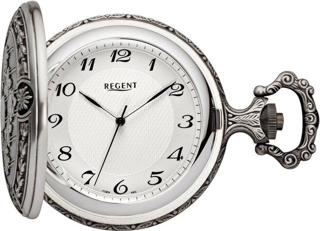 Regent Taschenuhr »11340081«, (Set, 2-tlg), inkl. Kette   Uhren > Taschenuhren   Regent