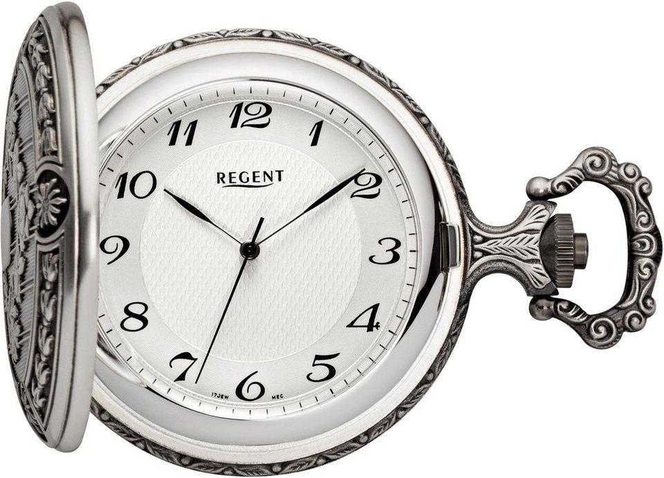 Regent Taschenuhr »11340081« inkl. Kette (Set, 2 tlg.) in silberfarben