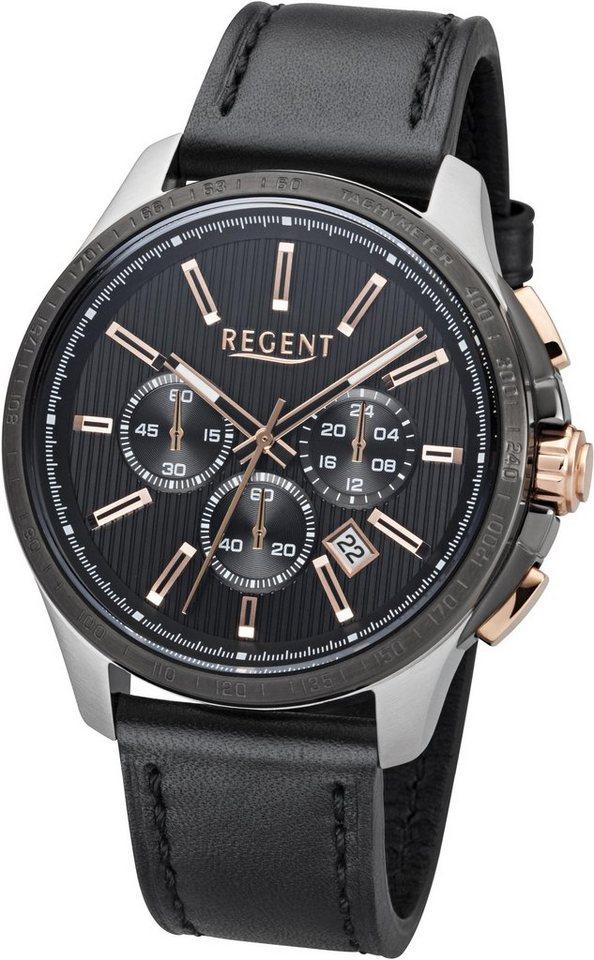 Regent Chronograph »11110775« in schwarz