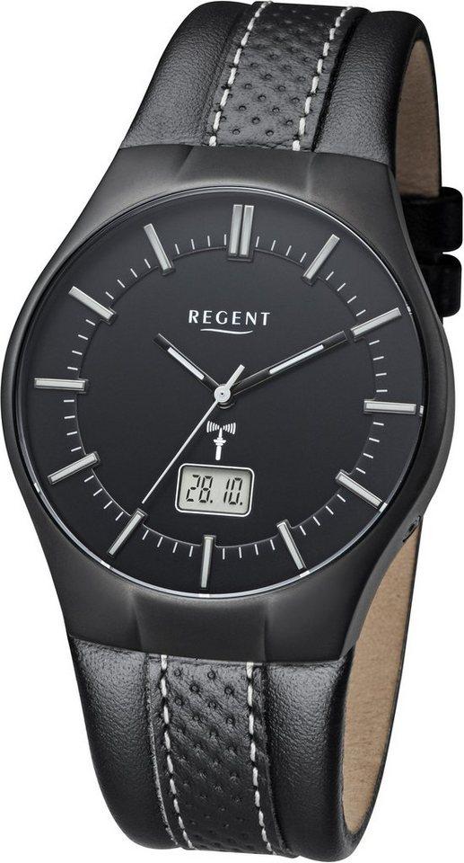 Regent Funkuhr »11030139« in schwarz