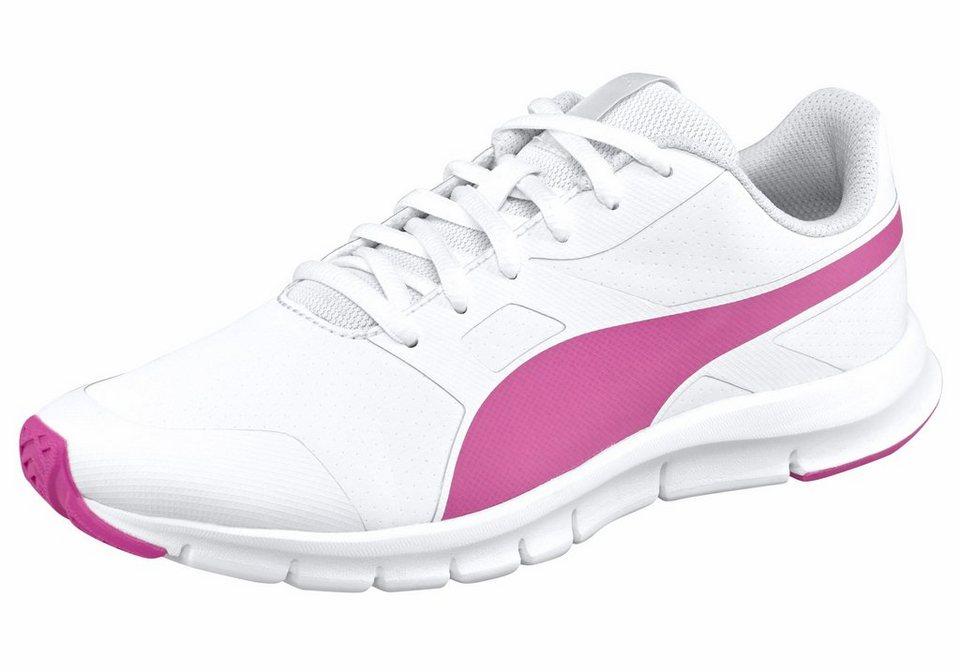 PUMA »Flexracer SL« Laufschuh in weiß-pink