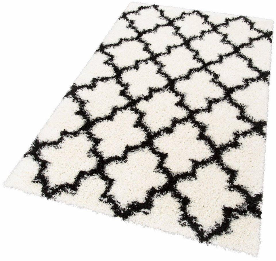 Hochflor-Teppich, my home Selection, »Paula«, Höhe 50 mm, gewebt in schwarz