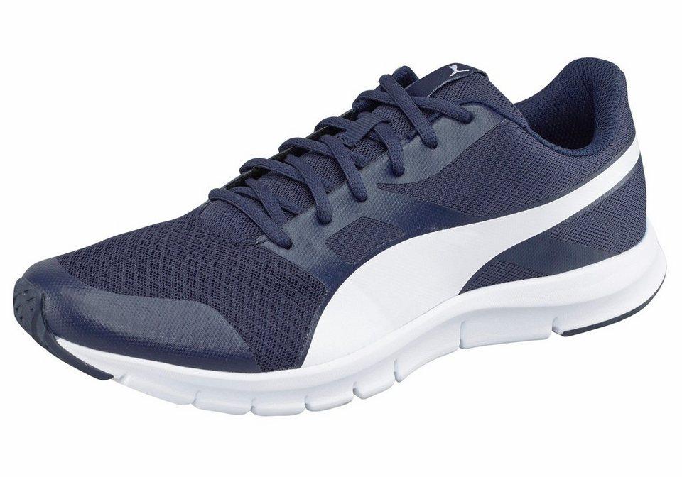 PUMA »Flexracer« Laufschuh in dunkelblau-weiß