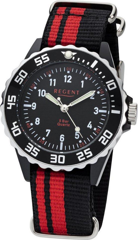 Regent Quarzuhr »12400256« in schwarz-rot