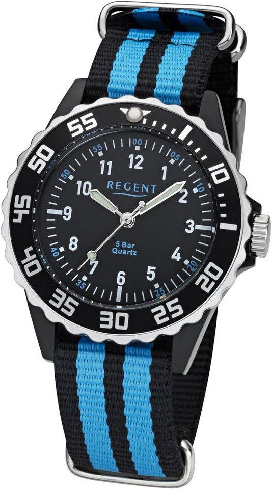 Regent Quarzuhr »12400258« in schwarz-blau