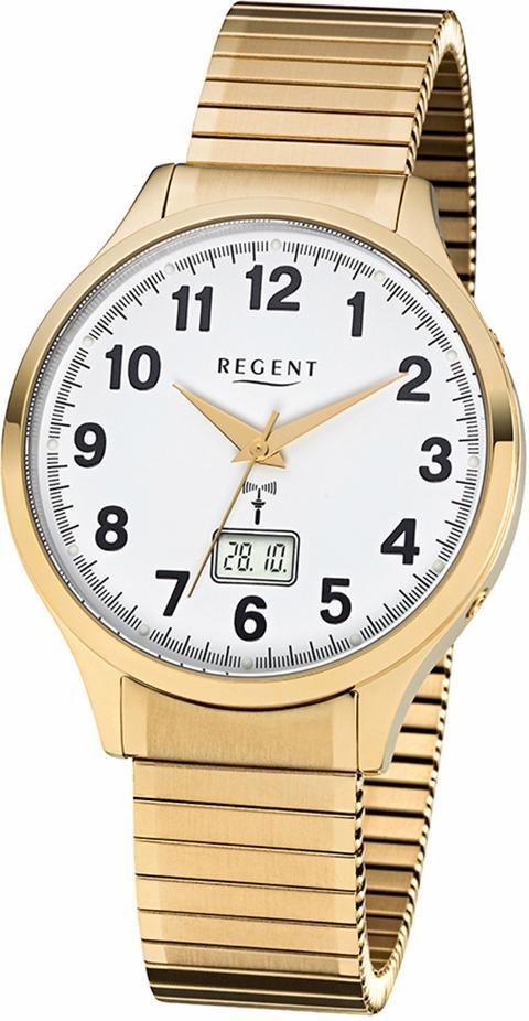 Regent Funkuhr »FR209« in goldfarben