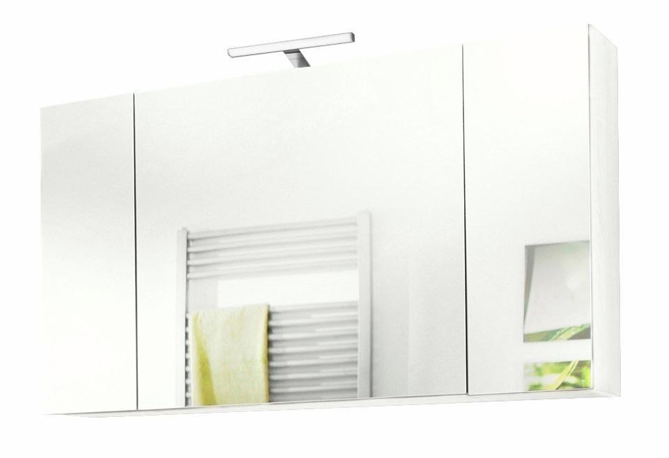 Kesper Spiegelschrank »Monza« mit LED-Beleuchtung in weiß