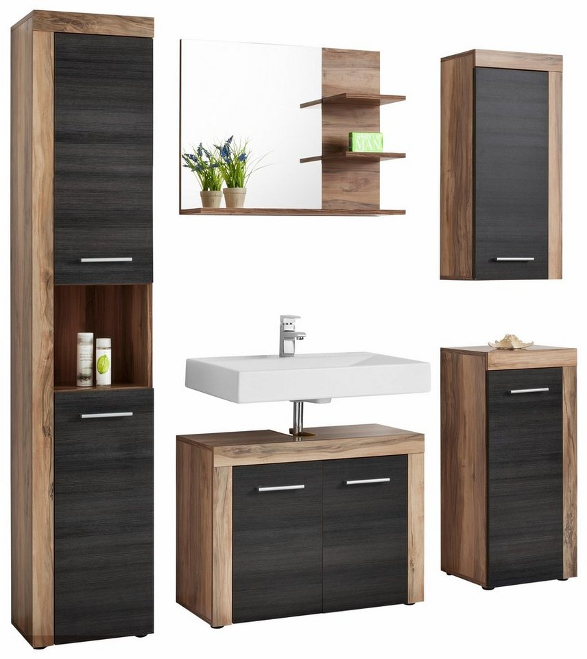 welltime badm bel set cancun 5 tlg mit struktur fronten online kaufen otto. Black Bedroom Furniture Sets. Home Design Ideas