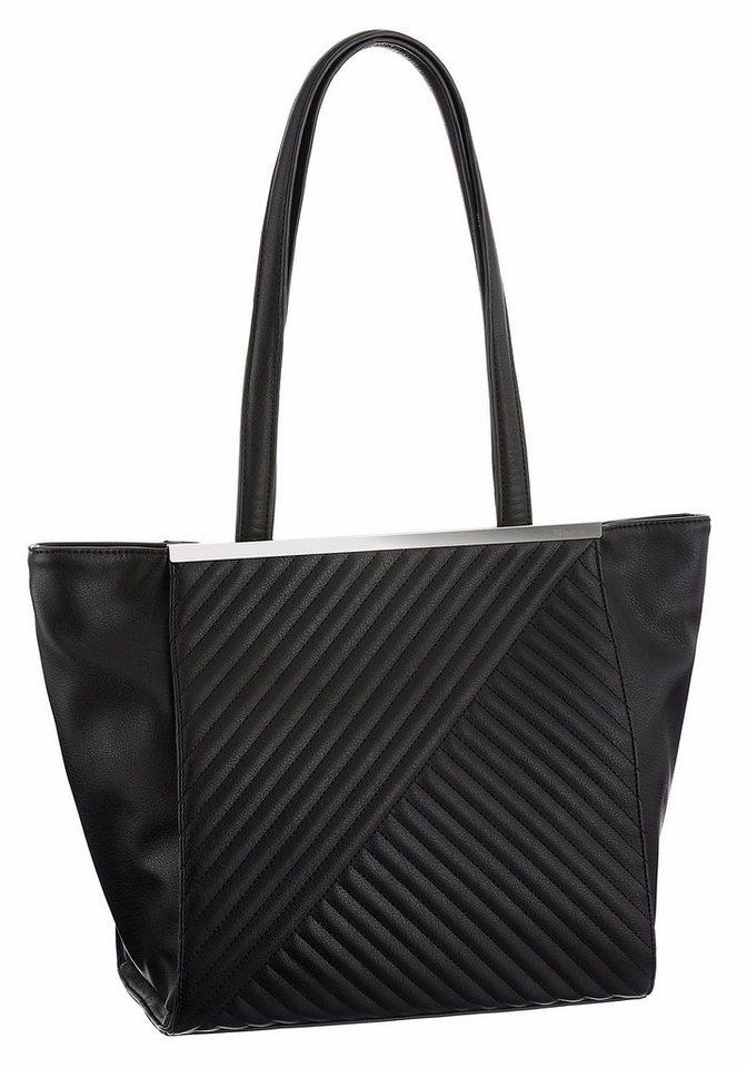 Tamaris Shopper »LILIA« mit Steppung in schwarz