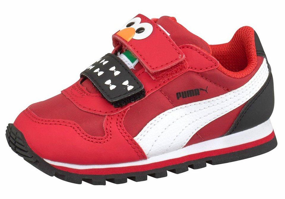 PUMA »St Runner Elmo hoc V Infant« Lauflernschuh in rot-schwarz