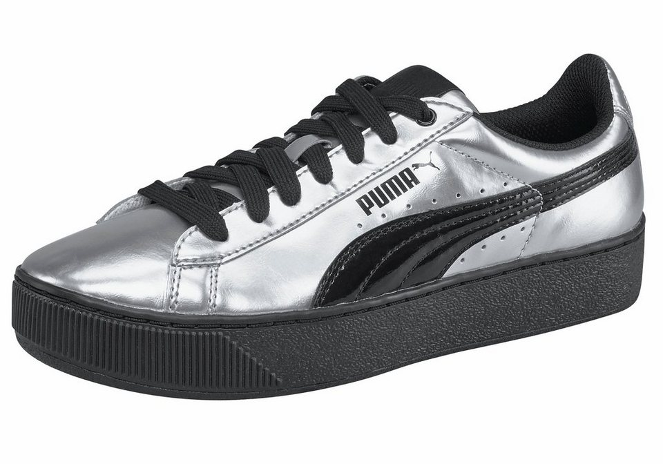 PUMA »Vikky Platform« Sneaker in silberfarben-schwarz