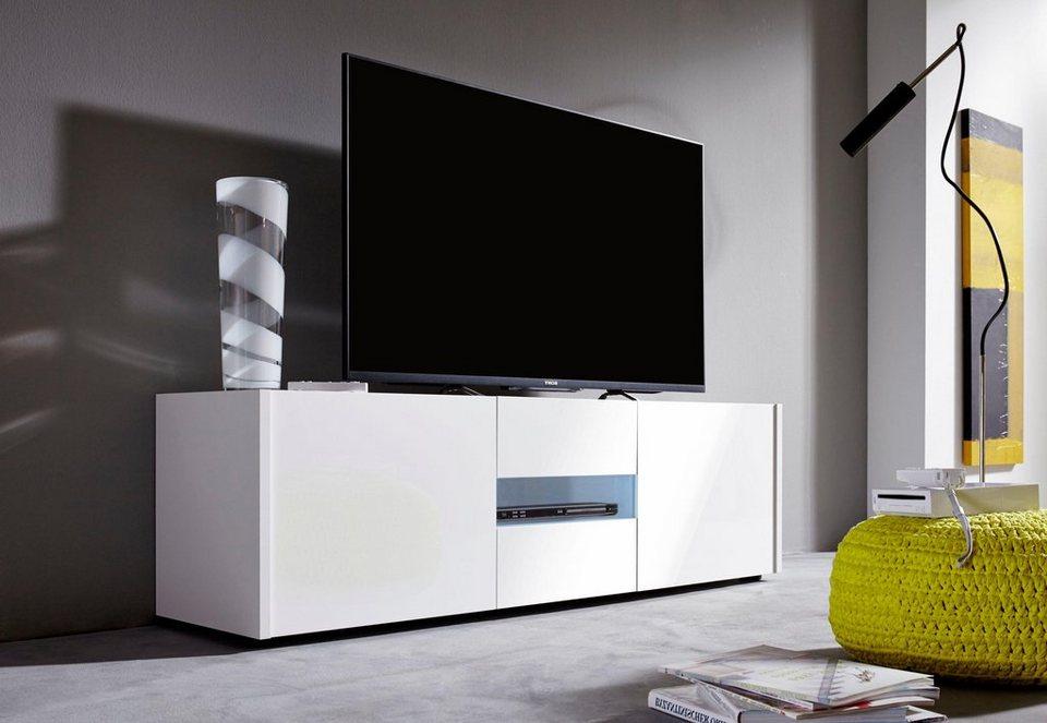 Lowboard »IMOLA« Breite 150 cm in weiß/ weiß Hochglanz