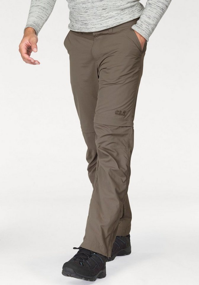Jack Wolfskin Zip-off-Hose »CANYON ZIP OFF« mit UPF 40+ in taupe