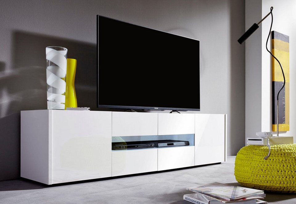 Lowboard »IMOLA« Breite 173 cm in weiß/ weiß Hochglanz