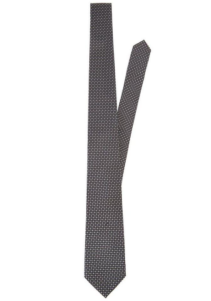 PIERRE CARDIN Seiden-Krawatte gemustert in schwarz