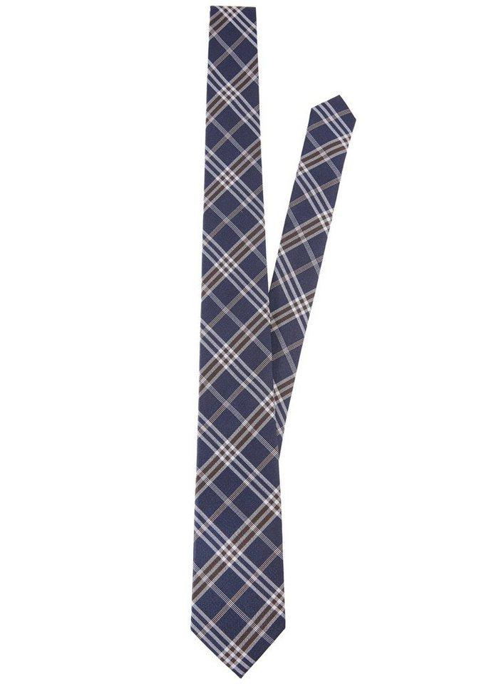 PIERRE CARDIN Seiden-Krawatte in blau/braun