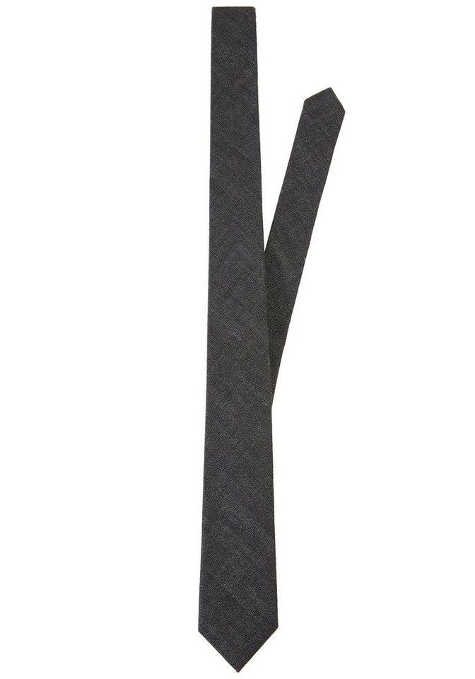 PIERRE CARDIN Krawatte in Jeansoptik in schwarz