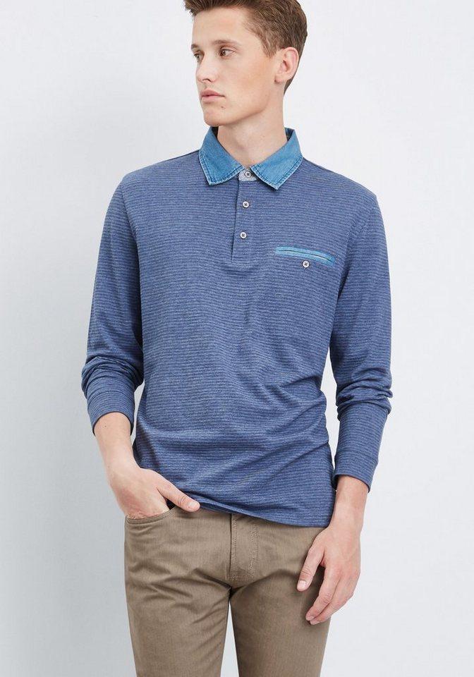 PIERRE CARDIN Poloshirt in blau