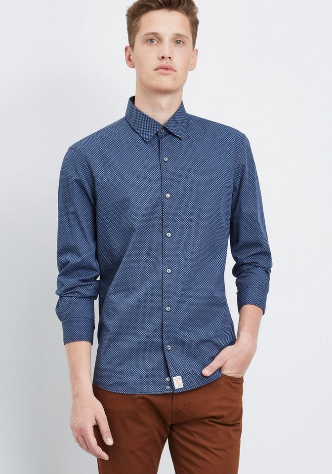 PIERRE CARDIN Hemd in dunkelblau