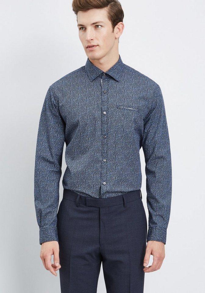 PIERRE CARDIN Freizeithemd Allover-Print in blau