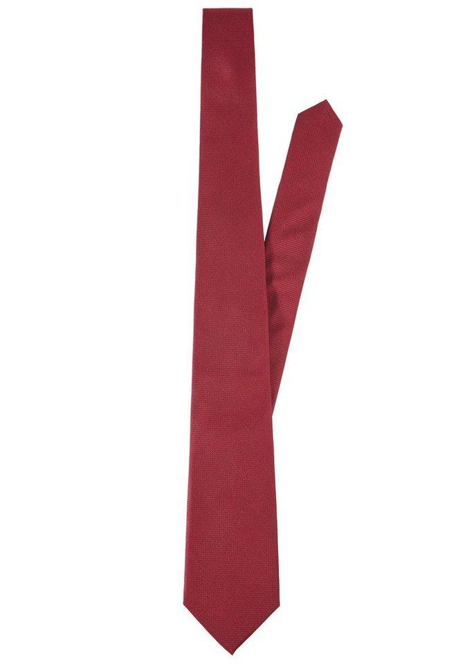 PIERRE CARDIN Seiden-Krawatte in rot