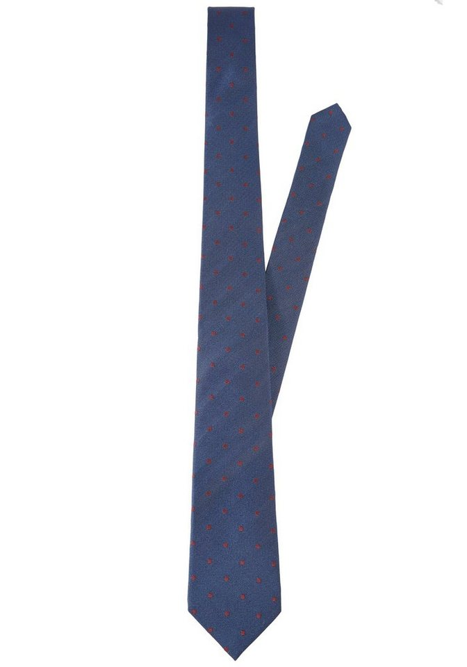 PIERRE CARDIN Krawatte gepunktet in blau