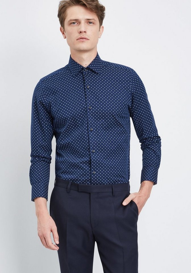 PIERRE CARDIN Businesshemd in dunkelblau