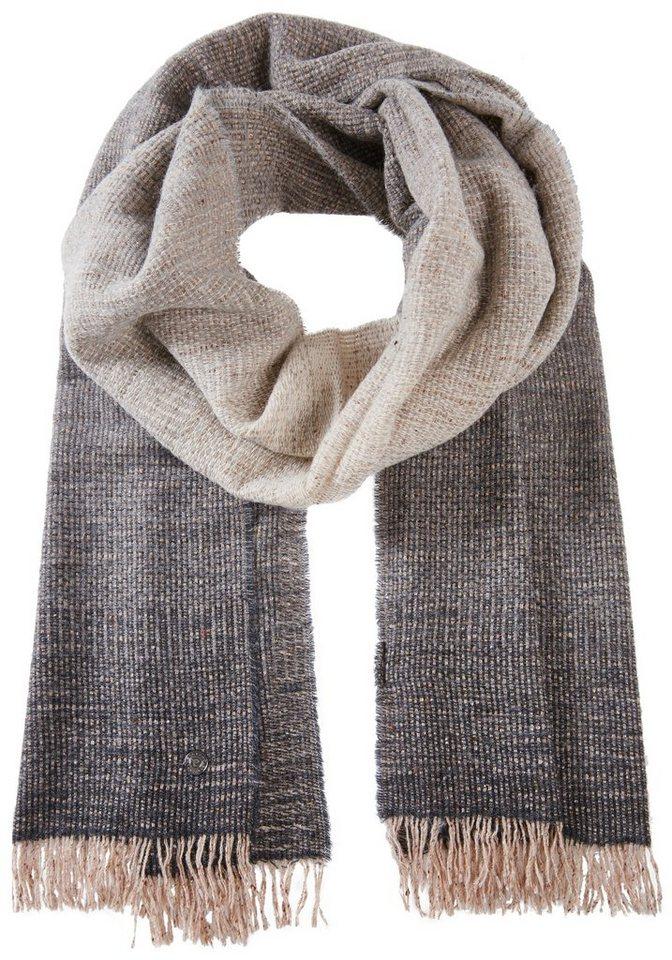 PIERRE CARDIN Schal mit Farbverlauf in grau